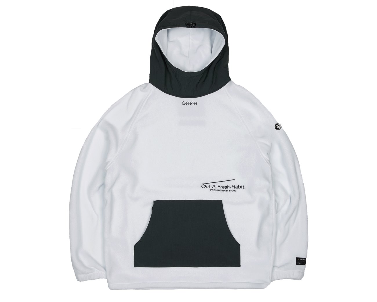 FLEECE WARM UP HOODIE WHITE / GAFH