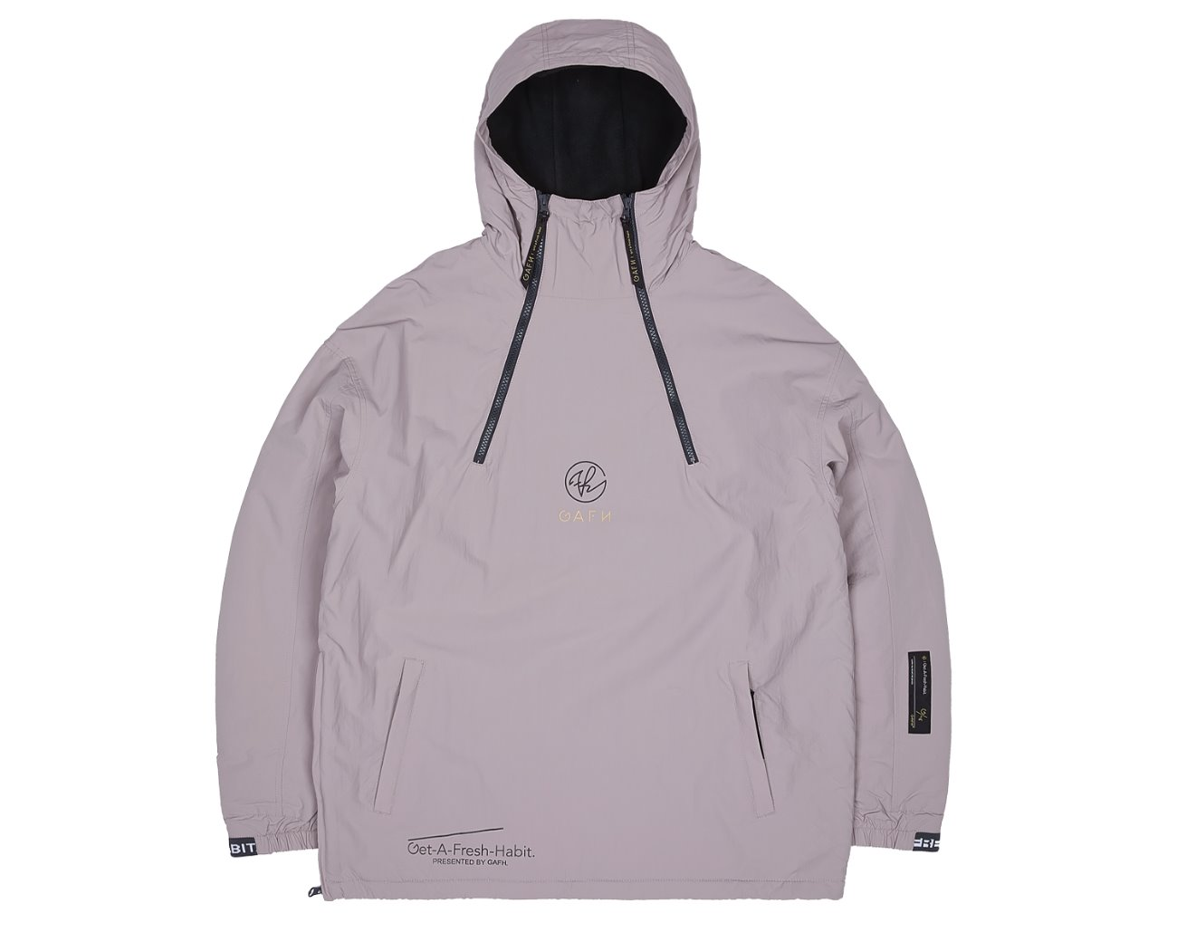 DOUBLE ZIP UP PULLOVER BARK / GAFH