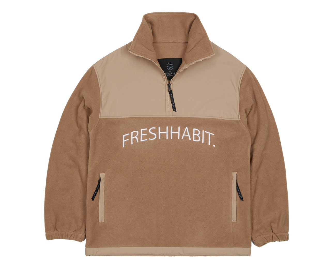 FLEECE HALF ZIP UP TANNIN / GAFH