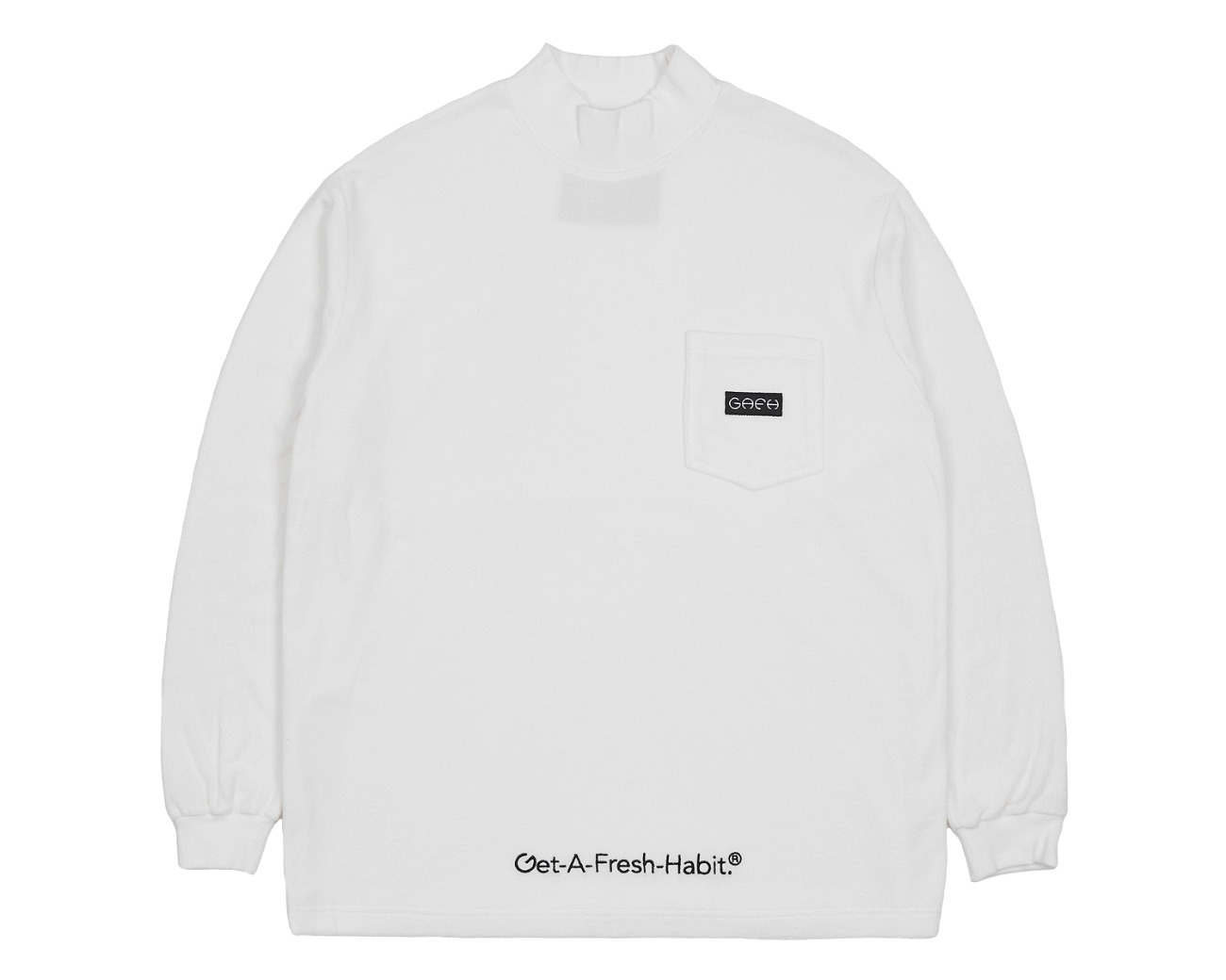 TERRY MOCK NECK WHITE / GAFH